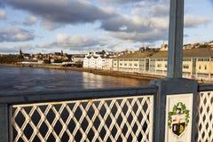 Derry-Panorama von Craigavon-Brücke Stockbilder