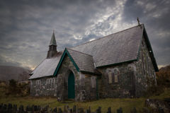 Derrycunihy Church. Kerry Peninsula. Ireland Stock Images