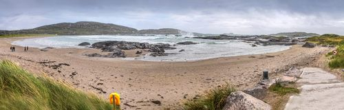 Derrynane Beach Panoramic Royalty Free Stock Photos