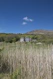 Derrynane House as seen through grass covered dunes Royalty Free Stock Photos