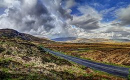 The Derryveagh mountains stock photography