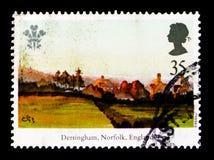 Dersingham, Norfolk, Angleterre, 25ème Anniv de l'investiture du serie de prince de Galles, vers 1994 Photographie stock libre de droits