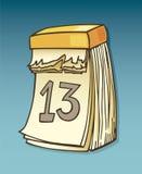 Dertiende op kalender Stock Afbeelding