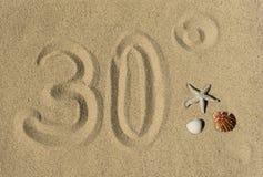 Dertig graden - zomer Stock Afbeelding