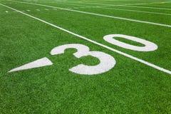 Dertig werflijn - voetbal Stock Foto