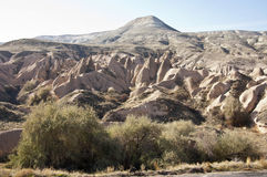 Dervent Valley. Rock formations of the Dervent valley in Cappadocia at sunny autumn midday Royalty Free Stock Photo