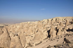 Dervent Valley. Rock formations of the Dervent valley in Cappadocia at sunny autumn midday Stock Photography