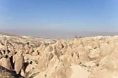 Dervent Valley. Rock formations of the Dervent valley in Cappadocia at sunny autumn midday Stock Photo