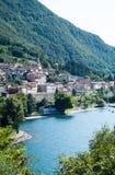 Dervio jezioro Como Fotografia Stock