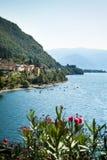 Dervio sjö Como Fotografering för Bildbyråer