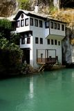Dervish house. In Blagaj (near Mostar) one of the most mystical places of Bosnia and Herzegovina stock photography
