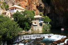 Dervish house in Blagaj,Bosnia and Herzegovina Royalty Free Stock Images