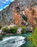 Dervish house, Blagaj, Bosnia and Herzegovina - panorama royalty free stock photography