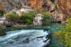 Dervish house, Blagaj, Bosnia and Herzegovina royalty free stock images