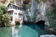 Dervish house in Blagaj Buna Royalty Free Stock Image