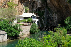 Dervish house in Blagaj Buna, Bosnia Herzegovina Royalty Free Stock Image