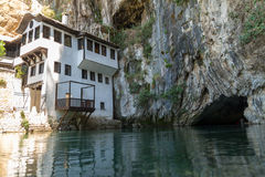 Dervish house in Blagaj Buna Stock Image