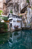Dervish house in old town Blagaj, Bosnia and Herzegovina Stock Photography