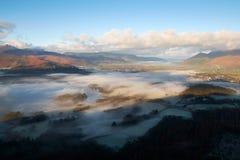 Derwent валит, район озера, Великобритания Стоковое Фото