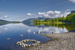 derwent вода озера стоковая фотография