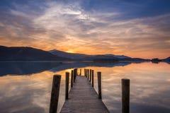 derwent вода захода солнца Стоковые Фотографии RF