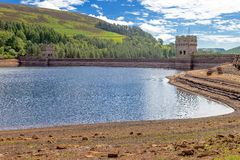 Derwent Dam in England. Royalty Free Stock Images