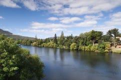 Derwent flod, Tasmania Royaltyfria Bilder