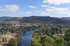 Derwent flod, Tasmania Arkivbild