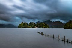 Derwent Isle Under Stormy Clouds Stock Images