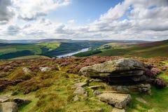 Derwent kant i Derbyshire Arkivfoto