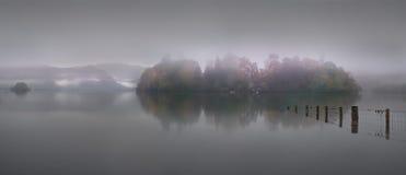 Derwent Mist. Dawn mist shrouds Derwent Isle Royalty Free Stock Photos