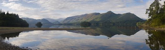 Derwent Reflections towards Borrowdale Valley and Catbells, Lake District, Cumbria, England