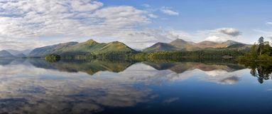 Derwent Reflections with view of the Cumbrian mountains in the Lake District, Cumbria, England