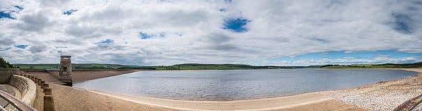 Derwent Reservoir Panorama Royalty Free Stock Photos