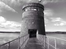 Derwent reservoir tower Royalty Free Stock Images