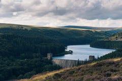 Derwent rezerwuar, Szczytowy Gromadzki park narodowy, UK Zdjęcia Royalty Free