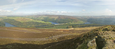 Derwent Valley from Win Hill, Derbyshire Stock Photos