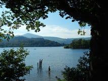 Derwent vatten - Keswick Arkivbilder
