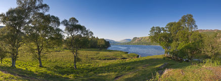 Derwent vatten, sjöområde, UK Royaltyfria Bilder