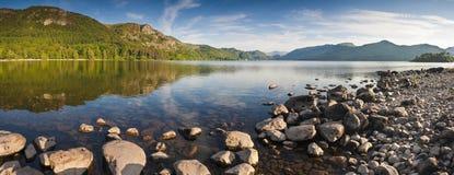 Derwent vatten, sjöområde, UK Arkivfoto