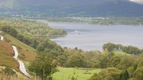 Derwent Wasser von Catbells. Großbritannien Lizenzfreie Stockbilder