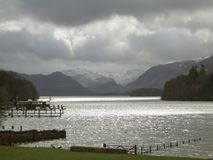 Derwent Water 1. Stormy clouds at Derwent Water in the English Lake District Stock Image