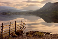 Derwent Water. The still waters of Derwent Water soon after daybrake Stock Image