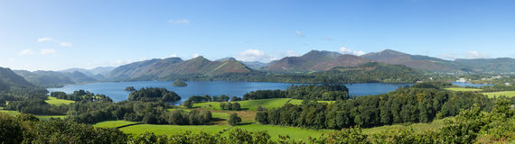 Derwent Water from Castlehead viewpoint Stock Photos