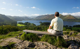 Derwent Water from Castlehead viewpoint Royalty Free Stock Image