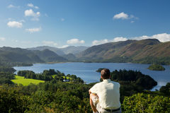 Derwent Water from Castlehead viewpoint Royalty Free Stock Photo