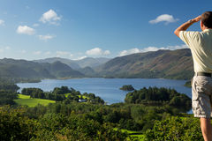 Derwent Water from Castlehead viewpoint Royalty Free Stock Photos