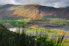 Derwent Water and Cat Bells. Autumn on Derwent Water and the Lake fells Royalty Free Stock Photo