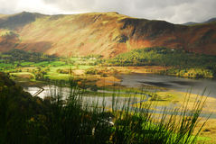 Derwent Water and Cat Bells. Autumn on Derwent Water and the Lake fells Stock Photography