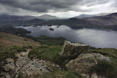 Derwent Water from Cat Bells Stock Images